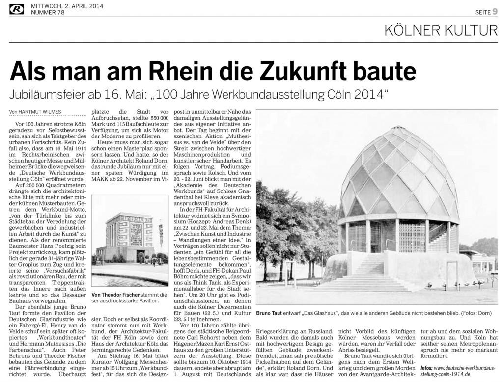 Kölnische Rundschau, 02.04.2014