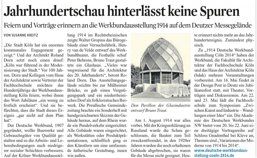Kölner Stadt-Anzeiger, 02.04.2014